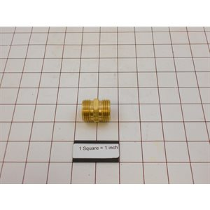 DOUBLE MALE WATER HOSE COUPLING, BRASS FOR F200164