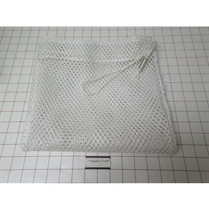 "24""X24"" MESH LAUNDRY BAG, .25"" OPENINGS, WITH CORD"
